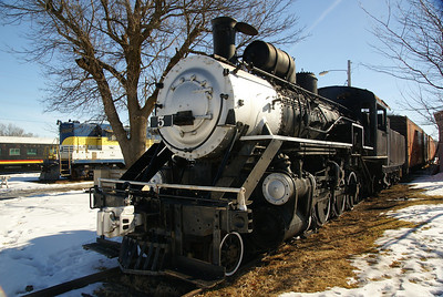 Okmulgee Northern #5 on static display in Belton, MO.  Owned by the Belton, Grandview & Kansas City Railroad.