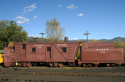 Snowplow in Chama, New Mexico yard.