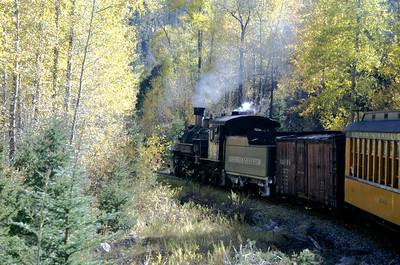Durango & Silverton train on a fall trip.