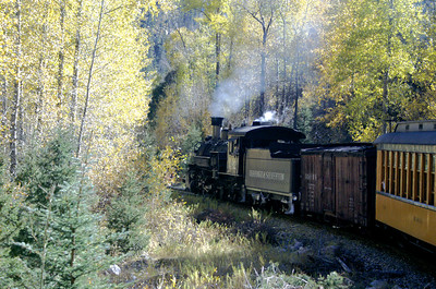Durango & Silverton train on a fall trip.