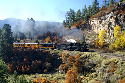 Michelle and I spent a few hours following the Durango & Silverton train the day after our ride for some head end shots.