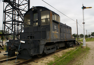 Chicago, St Paul, Milwaukee, & Omaha switcher in Oelwein, IA