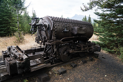 Bankhead, AB compressed air locomotive