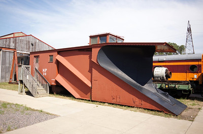 Northern Pacific snowplow on display in St Paul, MN