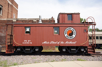 Northern Pacific caboose in St Paul, MN