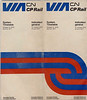 Timetable: Excerpts: VIA CN CP Rail, first joint timetable by CN and CP. 1976 October 31 to 1977 April 23. Cover