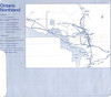 Ontario Northland Railway ticket holder about 1987 - interior with map