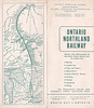 1948 Ontario Northland Railway brochure with map. Outside