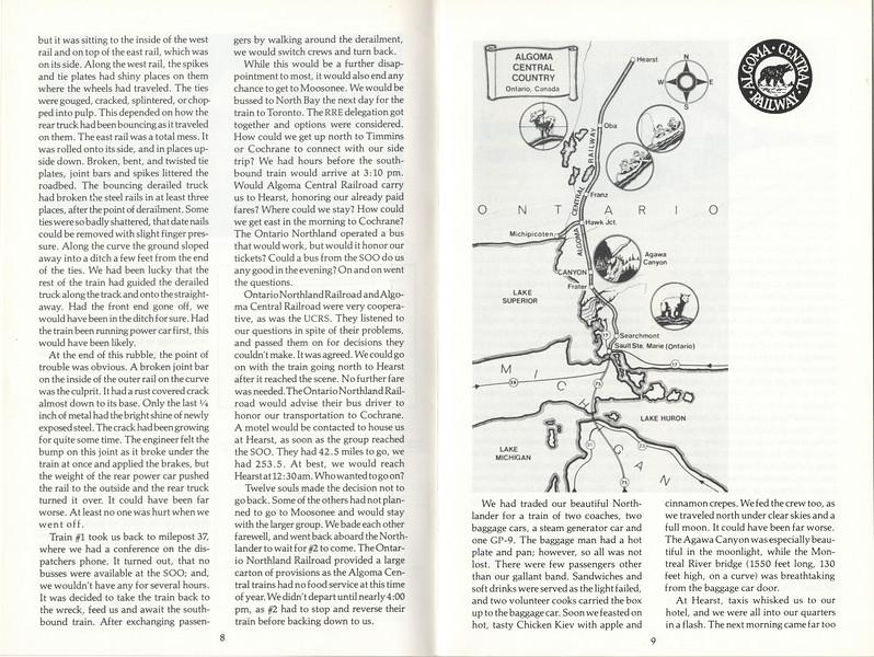 1978 the Railroad Enthusiast - Moosonee or Bust -
