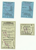 Canadian Pacific Railway tickets. Passenger portions for upper berth Toronto to Calgary return and coach to Red Deer, Alberta. Tickets purchased in Kitchener, Ontario 1942 October 13th. Military tickets. Second class. Front.