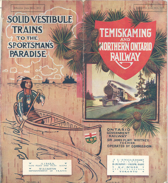 Temiskaming and Northern Ontario Railway 1912 June 30 timetable - cover