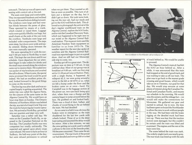 1978 the Railroad Enthusiast - Moosonee or Bust - derailment north of Sault Ste Marie