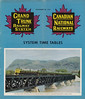 Canadian National Railways Timetable 1954 November 28 - front cover