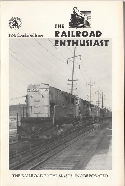 1978 the Railroad Enthusiast cover