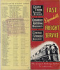 1947 Grand Trunk Railway System Canadian National Railways Central Vermont Railway Fast Dependable Freight Service. The Largest Railway System in America. Cover and back. Brochure.