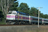 MBTA Commuter Rail - Fitchburg Mass Line - Passing through Shirley Mass. Engine1015.