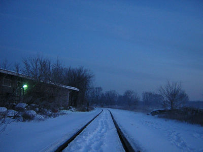 Lonely tracks on a cold winter's morning - Nashua, NH