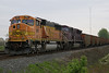 BSNF 9951 (EMD SD70MAC) & CEFX 138 (???) idling at Wenz Road crossing, Toledo, OH @08:32 on 5/9/08