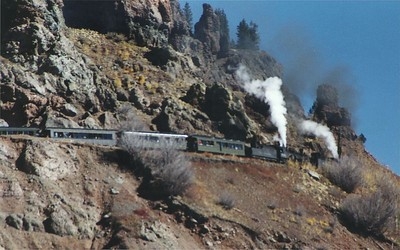Cumbres & Toltec Scenic Railroad at Windy Point near Cumbres Pass, Colorado