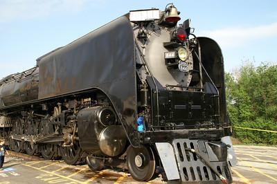 Historic UP844 steam locomotive parked at Pratt, KS