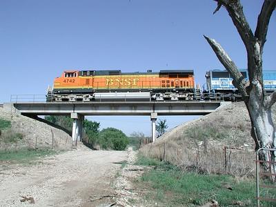 BNSF train north of Matfield Green, Kansas
