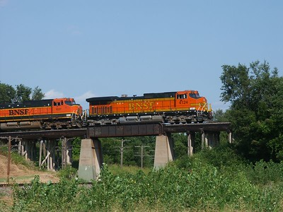 BNSF train at Mulvane, Kansas