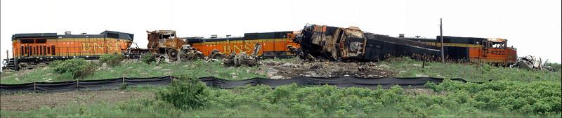 Derailment of BNSF train near Matfield Green, KS