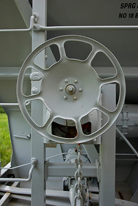 Brake wheel on a brand new tanker.
