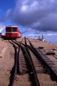 Cog railroad at Pikes Peak