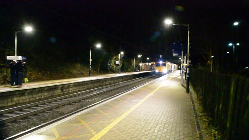 66757  0046/6x73 St.Pancras International-Kingsbury Scrapyard passes Welwyn North with Eurostar 373019_3020   03/12/16.