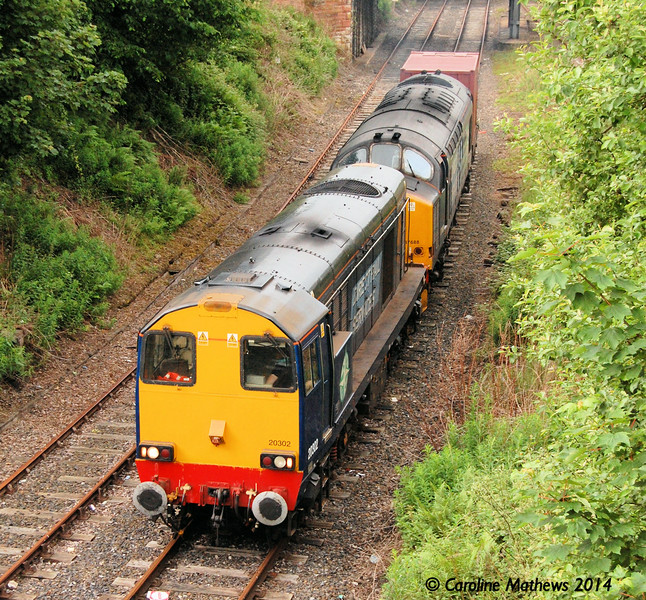 Another view of 20302 and 37688 heading from Bog Junction towards Upperby Junction with the 6K73 on Saturday 7th Jun