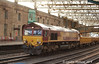"""66204 was working the 6L42 from Carlisle New Yard to Lancaster, one of the few trains which used its booked route through Carlisle on through line """"B"""": Saturday 7th June 2014."""