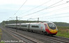 Heading for Glasgow Central on 9th June was 390 008 working the 1S20.