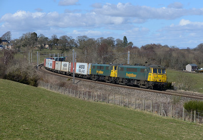 86610 + 86612 pass Wreay with the occasional Saturday liner on 24/3/18.