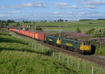 86632+86627 pass Shap Beck with the early evening liner 12/8/15.
