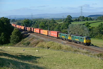 86614+86638 pass Great Strickland with the early evening liner 26/8/14.