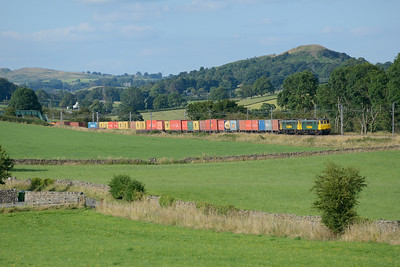 86612+86609 pass Well Heads with the evening liner 22/7/14.