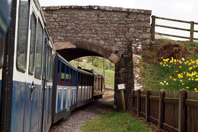 Douglas Ferreira heads under the valley road at Eskdale Green. 11//04/11.