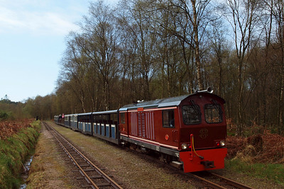 Douglas Ferreira stands in Miteside loop on the 1210 from Ravenglass to Dalegarth. 11//04/11.