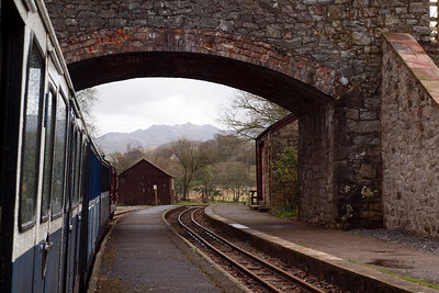 The view under the bridge at Irton Road, with Green Crag in the distance. 11//04/11.