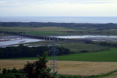 Eskmeals viaduct, as seen from Newtown Knott, south of Ravenglass, 08/08/09.