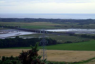 Eskmeals viaduct, as seen from Newtown Knott, south of Ravenglass, 08/08/09.