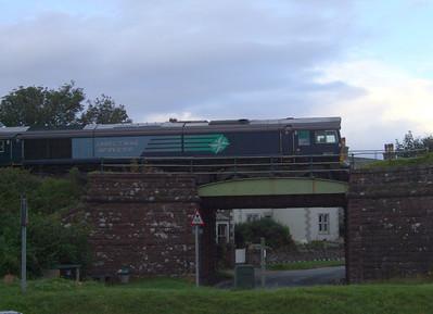 66415 passes through Ravenglass, 03/08/09.