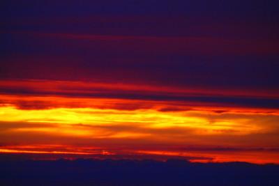 Fiery Solway sky. 01/08/11.