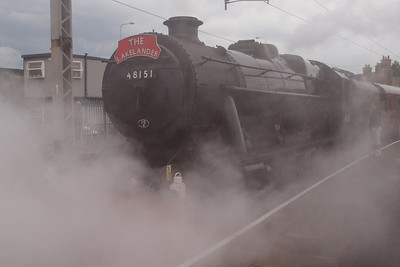 48151 is a steamy affair at Carnforth. 06/08/11.