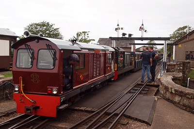 Douglas Ferreira gets underway with the short journey into Platform 1 with Lady Wakefield and her failed train. 01/08/11.