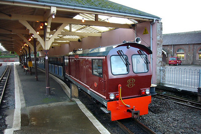Douglas Ferreira stands under the Platform 3 awning at Ravenglass, 01/12/07.