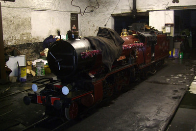 River Mite sits in Ravenglass loco shed, 13/12/08.