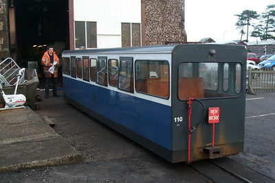 Saloon 110 undergoes attention from the engineers at Ravenglass, 22/12/08.