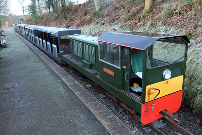 Lady Wakefield, seen here at Eskdale Green station, 13/12/09.